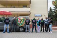 Kibice Śląska w Domu Pomocy Społecznej przy ulicy Rędzińskiej